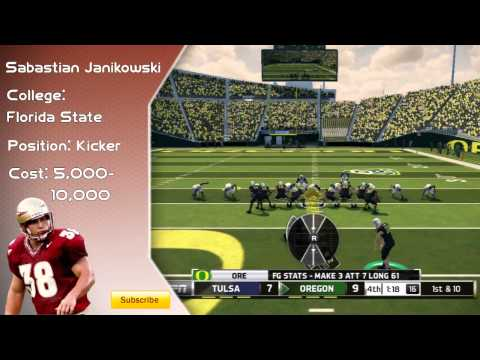 Ncaa Football 14 Ultimate Team Player Review- Sebastian Janikowski