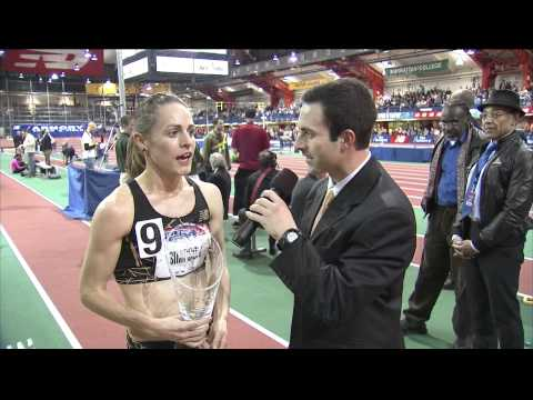 Jenny Simpson Women's Millrose Metric Mile broadcast interview