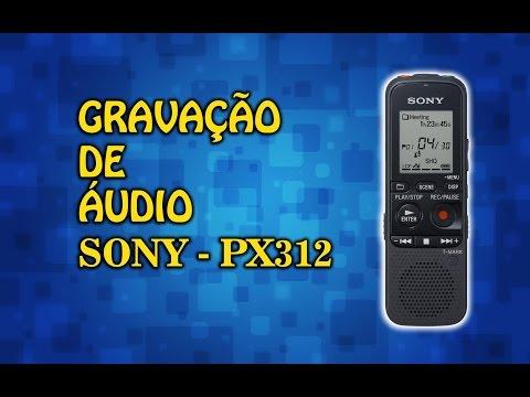 Áudio captado com gravador  SONY PX312