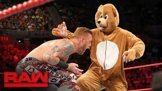 Heath Slater & Rhyno vs. The Miz and a bear: Raw, June 12, 2017