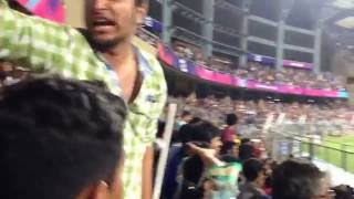 Fan Wave at Wankhede Stadium Mumbai.