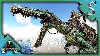 MAX LEVEL BARYONYX TAMING AND BREEDING! - Ark: RAGNAROK [DLC Gameplay S3E74]