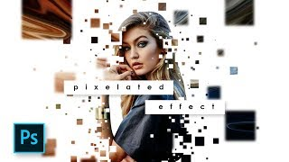 Cara Edit Foto Pixelated Effect - Dipresion Effect Photoshop - Photoshop Tutorial Indonesia