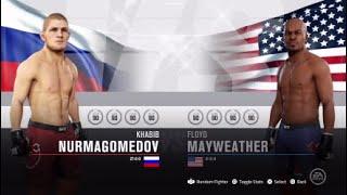 KHABIB NURMAGOMEDOV VS FLOYD MAYWEATHER ( STAND-UP RULES ONLY )