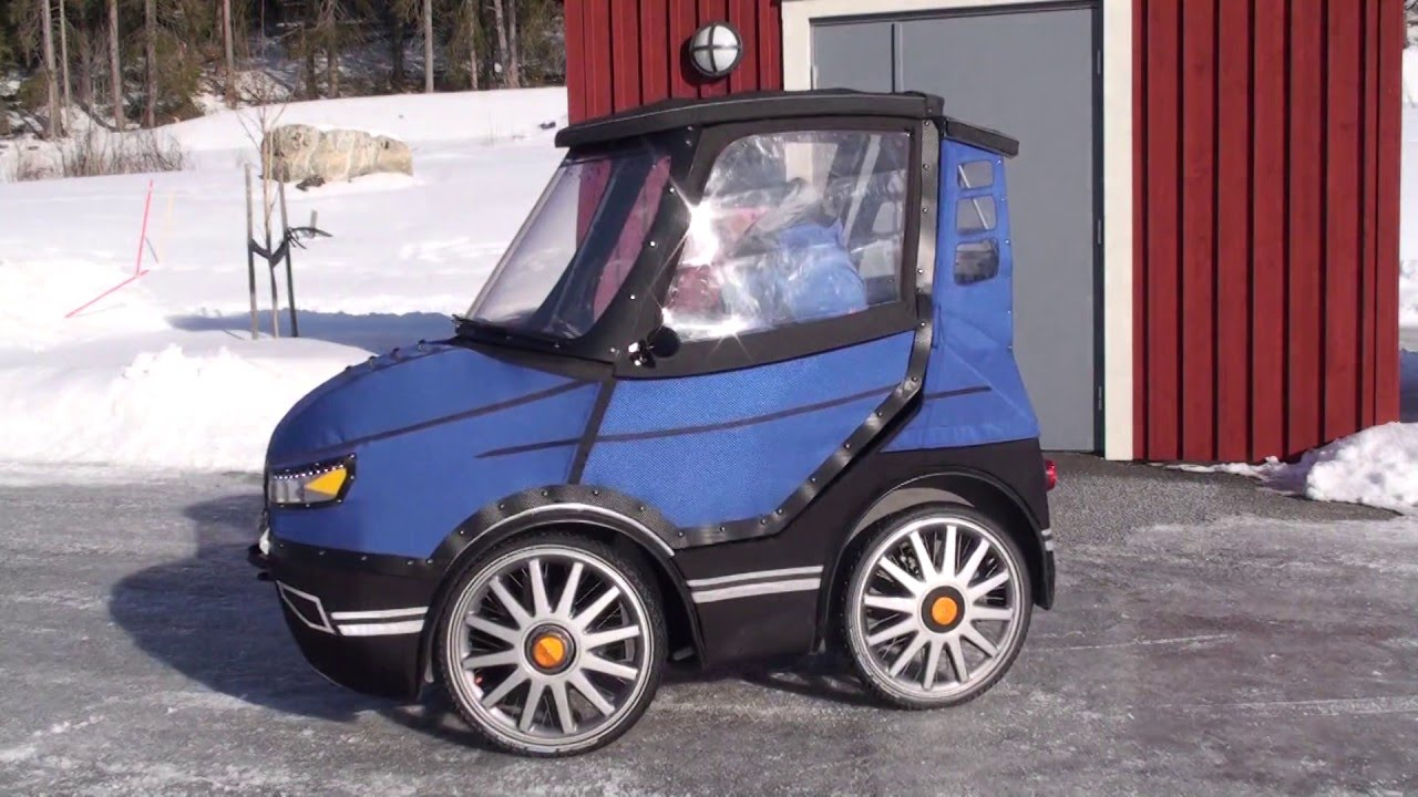 Want To Keep Biking In Winter? Check Out This Badass Four-Wheeled Bicycle Car
