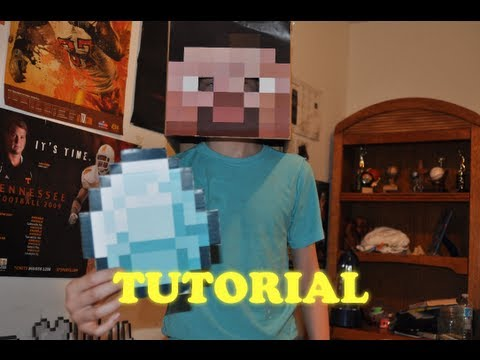 Minecraft Tutorial - How to Make a Steve head. and Minecraft Items! [HD]