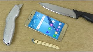 Samsung Galaxy C5 - Knife, Bend & Burn Test! (4K)