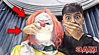 UNMASKING PENNYWISE FROM IT MOVIE AT 3AM!! *OMG I SAW HIS REAL FACE*