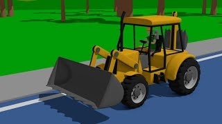 Excavators, Loaders, Bulldozers, Trucks, Tractors | Videos Foe Kids | Koparki, Traktory, Bajki