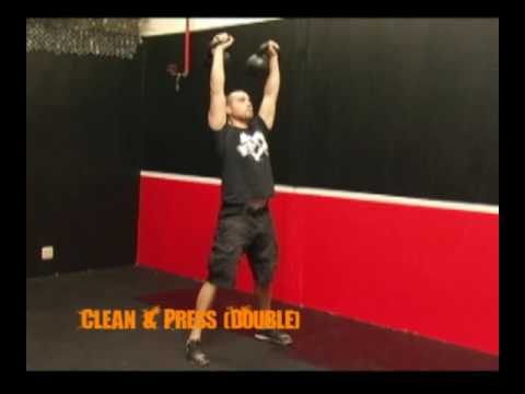 How to do the Double Kettlebell Clean and Press Exercise Image 1