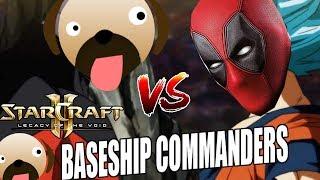 Imperium vs Dominion ROFL VS DEADPOOL - Baseship Commanders Starcraft 2 mod
