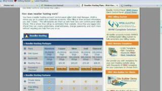 Reseller Hosting Account Video