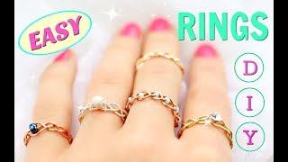 5 DIY rings  Adjustable  No Tools!!!  DIY Easy rings
