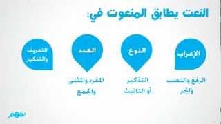 النعت لغة عربية للصف السادس ترم تاني