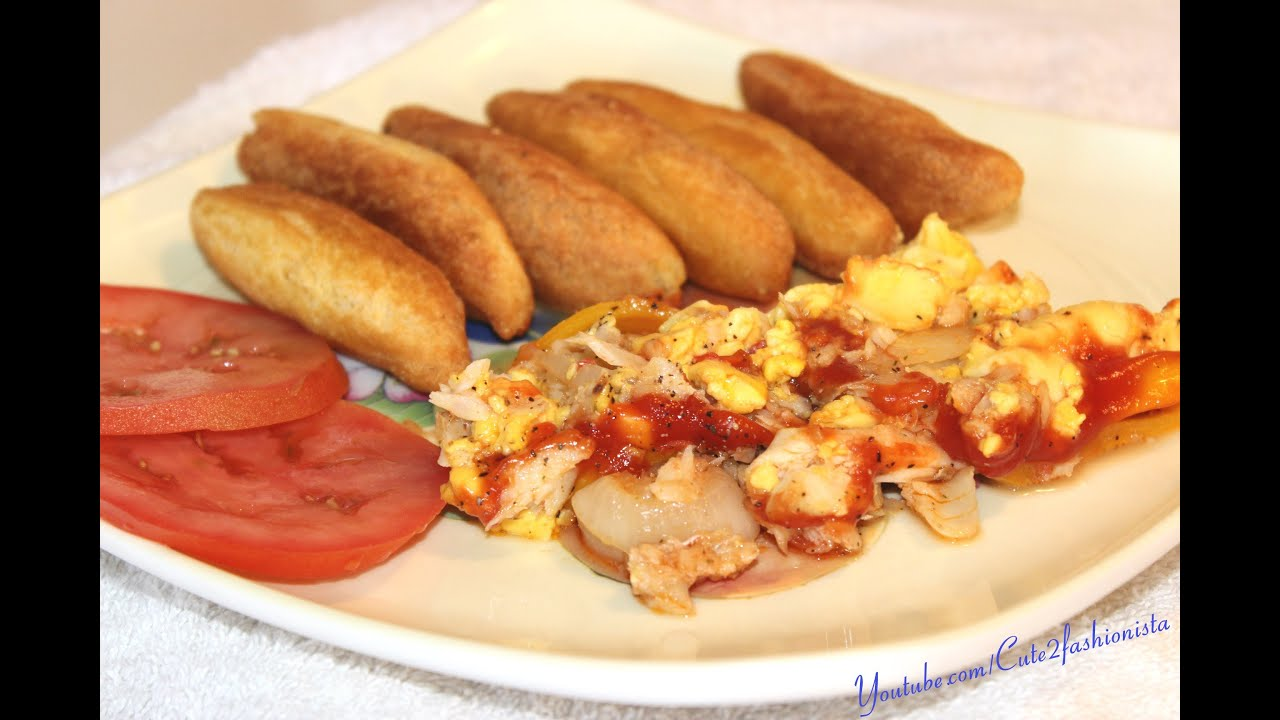 How To Make Jamaican Salt Fish And Ackee With Festival