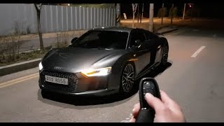 !!NEW AUDI R8 2018 night drive 0-200KM TEST!!
