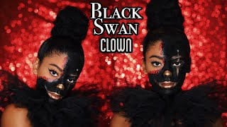 Black Swan Meets Clown: Halloween Makeup | jasmeannnn