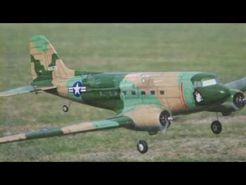 Phoenix DC-3 Dakota radio control aircraft.