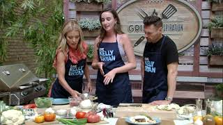 Grillin'spiration Cook-off: Erin Gresh's Shrimp Stuffed Turkey Burger on Cauliflower Steaks