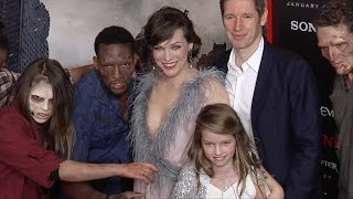 Milla Jovovich Paul And Ever Anderson Quot Resident Evil The Final Chapter Quot La Premiere Red Carpet