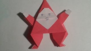 Origami - How To Make An Easy Origami Santa Claus (christmas Origami).