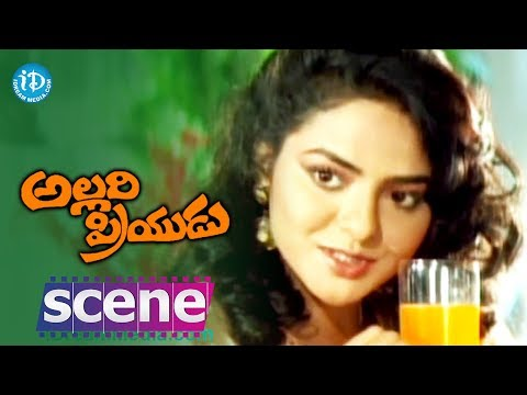 Allari Priyudu Movie Scenes - Madhubala flirts with Rajashekar...