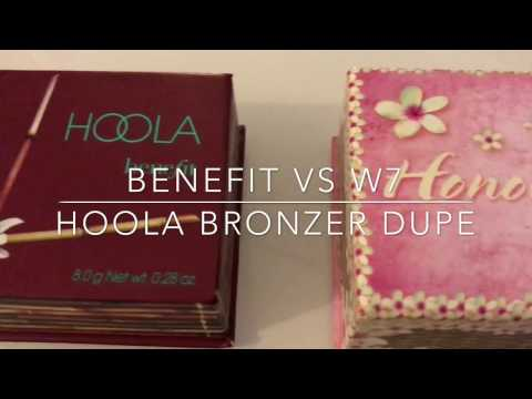 Benefit Hoola VS W7 Honulu Bronzer [REVIEW]