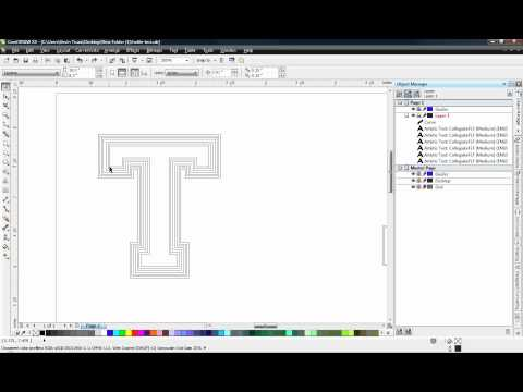 CorelDRAW - Outlining Fonts for Vinyl Cutting
