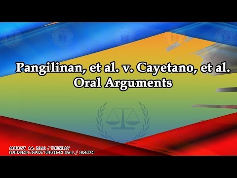 August 28, 2018 Oral Arguments on GR No. 238875 and GR No. 239483