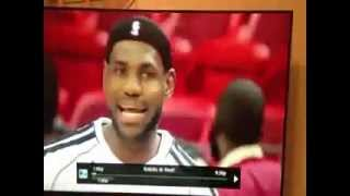 """Video of LeBron James singing """"Popped A Molly, Now I'm Sweating"""""""