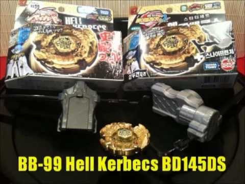 Beyblade BB-99 Hell Kerbecs BD145DS Review! Takara Tomy ( 2 Ver.)