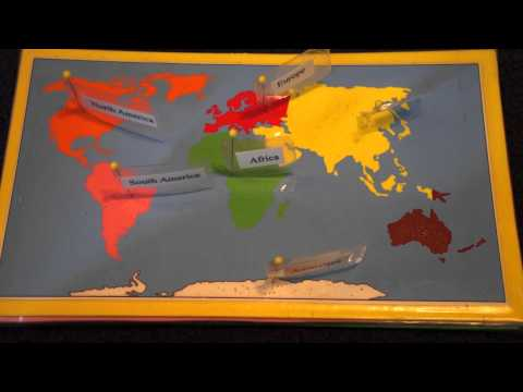 7 Continents Song and Montessori Map Work