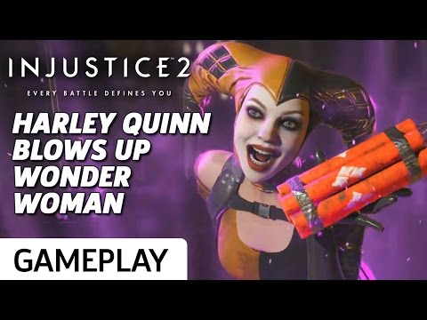 Harley Quinn vs. Wonder Woman Gameplay - Injustice 2