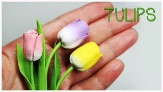 polymer clay Tulips TUTORIAL (Mother