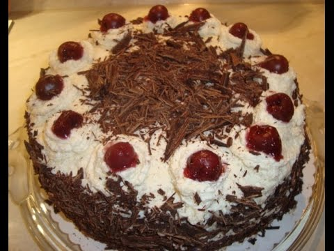 "Торт""Черный лес""-""Schwarzwälder Kirschtorte""."