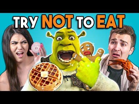 Try Not To Eat - Shrek Foods | People vs. Food