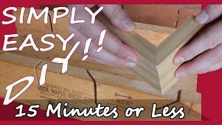 DIY Miter box - Make one in 15 Minutes