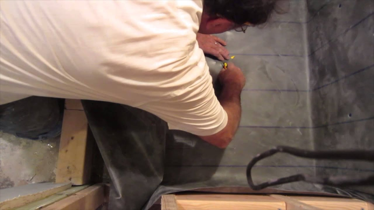How To Install A Vinyl Shower Pan Liner