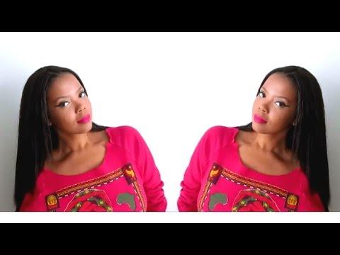 Knotless/Invisible Part Crochet Braids Using Straight Kanekalon Hair (struggle video)