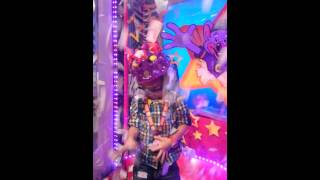 Kai at Chuck E Cheese for his 5th birthday