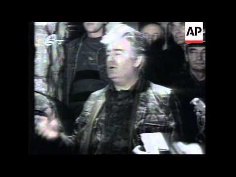 Bosnia - Karadzic Pep Talk To Petrovac Troops