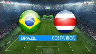 PES 2018 | BRAZIL vs COSTA RICA | Full Match & Amazing Goals | Gameplay PC | Brasil x Costa Rica