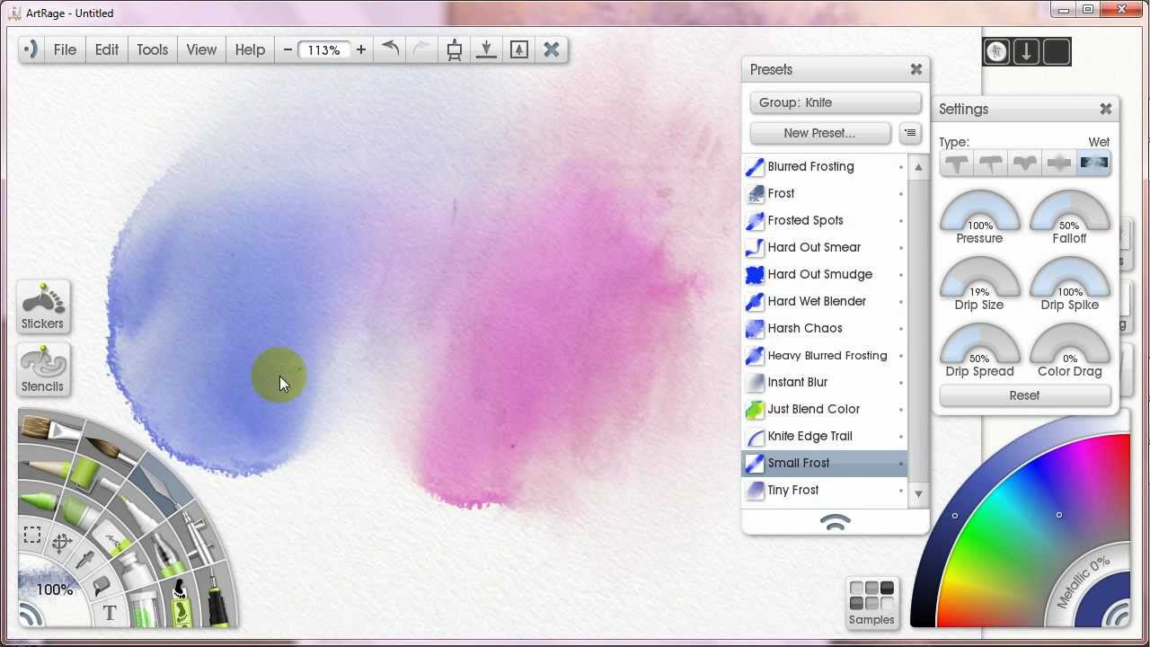 How To Paint With Watercolors In Artrage 5 Blenders