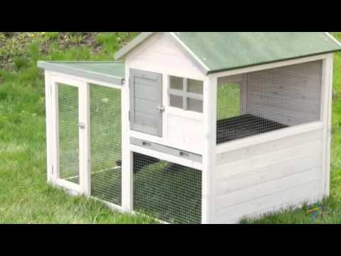 Boomer & George White Wash Rabbit Hutch - Product Review Video