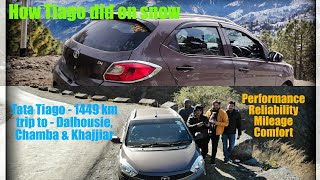 Tata Tiago - 1449 Km Trip to dalhousie, Chamba & Khajjiar - How Tiago did on snow