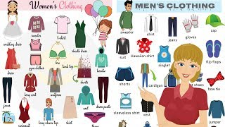 Clothes Vocabulary List of Clothes and Accessories in English  Clothes Names with Pictures