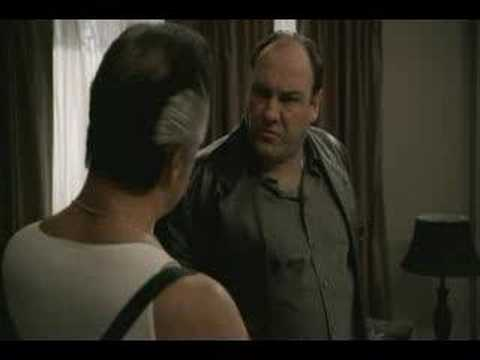 The Sopranos - Tony sees his painting at Paulies Video