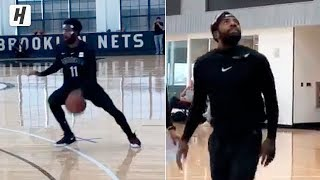 MASKED KYRIE IS BACK! Kyrie Irving 1st Brooklyn Nets Practice Drills!