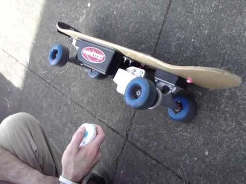 Metroboard Electric Skateboard - 600 Watt. 20 MPH  - Wii Wireless Nunchuck