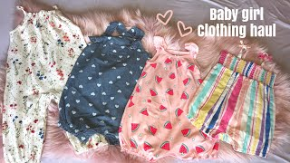 HUGE Baby Girl Clothing Haul